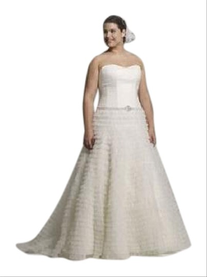 Galina Off White 9swg9902 Feminine Wedding Dress Size 16 (XL, Plus 0x)