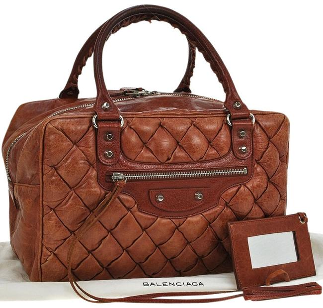 Balenciaga Materasse Hand Brown Leather Italy Vintage Tote Balenciaga Materasse Hand Brown Leather Italy Vintage Tote Image 1