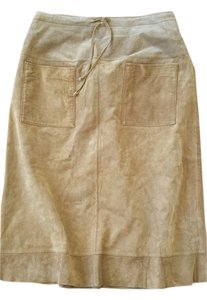 Mossimo Supply Co. Suede Suede Tan Suede Skirt Light Saddly