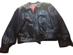 Andrew Marc Leather Vintage Dark Brown Leather Jacket