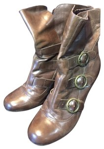 Dolce Vita Buckles Straps Low Hell Brown Boots