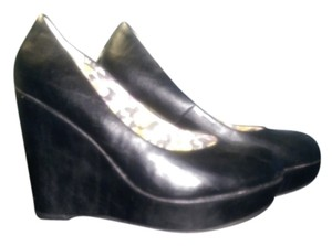 Madden Girl Leather Black Wedges