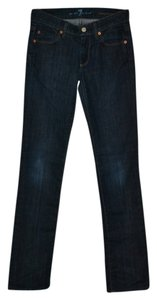 7 For All Mankind Low Rise Straight Leg Jeans-Dark Rinse