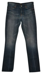 7 For All Mankind Light Low Rise Straight Leg Jeans-Light Wash