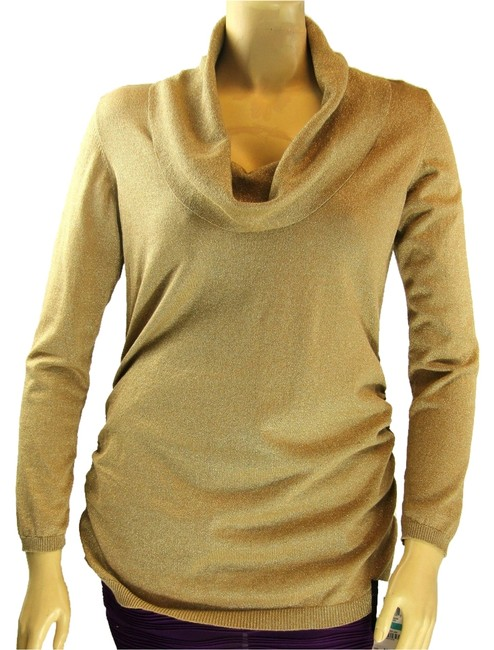 Preload https://item3.tradesy.com/images/alfani-metallic-gold-lurex-long-sleeve-cowl-neck-ruched-sides-sweaterpullover-size-24-plus-2x-1101017-0-0.jpg?width=400&height=650