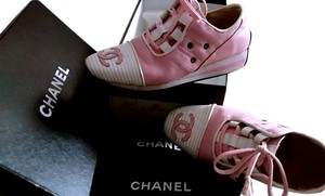 Chanel Classic Double Cc Double Cc Logo pink,white Athletic