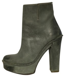 Maison Margiela Distressed Leather Grey Boots