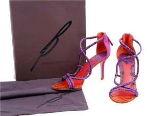 Brian Atwood Snake-embossed Multicolor/Red/Purple Pumps