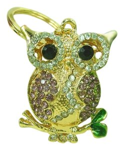 Other Rhinestone Owl Key Chain Key Ring Free Shipping