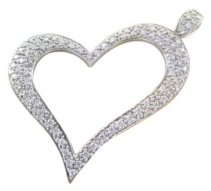 JPM 14K SOLID YELLOW GOLD PENDANT HEART LOVE VALENTINES 92 DIAMONDS 1.50 CT JPM