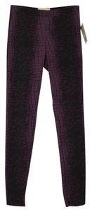 Robert Rodriguez Snakeskin New With Tags purple blacl Leggings