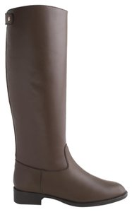 J.Crew Riding Boot Leather Dark Wood Boots