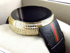 Gucci Custom Mens I Gucci Digital Gold Case Full Diamond Watch Ct Ya114207