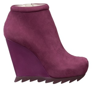 Camilla Skovgaard Ankle Wedge Leather Purple Boots