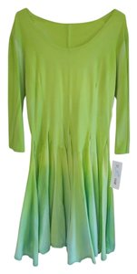 Luna Luz short dress 3/4 Length Sleeves Fitted Cotton Lycra Bodice Ombre Dyed Skirt on Tradesy
