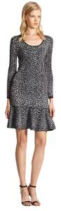 Rebecca Taylor short dress Gray/Navy Animal Print on Tradesy