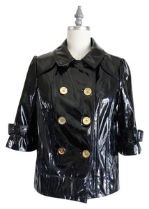 Juicy Couture Patent pantent black Leather Jacket