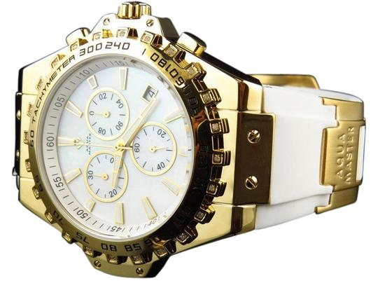Preload https://img-static.tradesy.com/item/11011099/yellow-white-mens-gold-finish-signature-mop-dial-diamond-w337-watch-0-1-540-540.jpg