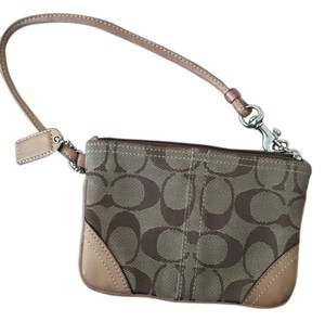 Coach Wristlet in Neutrals
