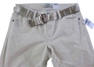 Old Navy Low Rise Stretch Straight Pants Beige, Cream, Ivory, Off White