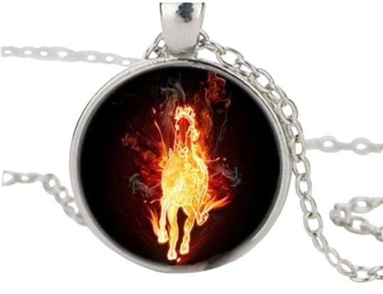Preload https://img-static.tradesy.com/item/11011396/multi-colored-bogo-horse-of-fire-cabochon-pendant-silver-free-shipping-necklace-0-2-540-540.jpg