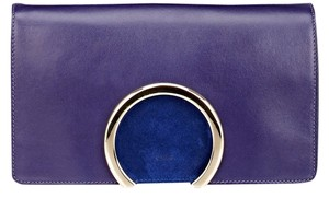 Chloé Leather Suede blue Clutch