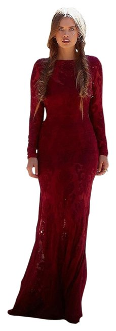 Item - Crimson Red Ethereal Long Casual Maxi Dress Size 8 (M)