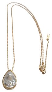 NEW Gold and Tear Drop Clear Crystal or CZ