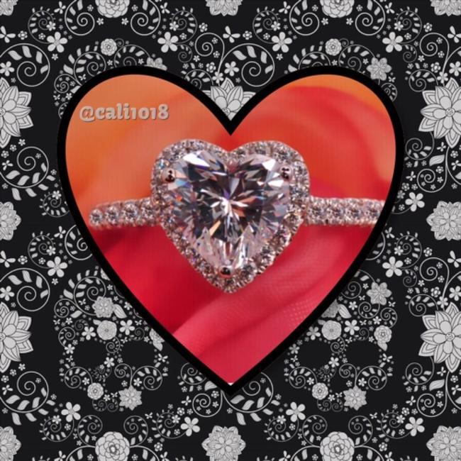 Silver Heart Shaped Solitaire Ring Silver Heart Shaped Solitaire Ring Image 1