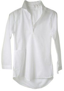 Other Tunic Artist Poet Shirt Cover Up Top White
