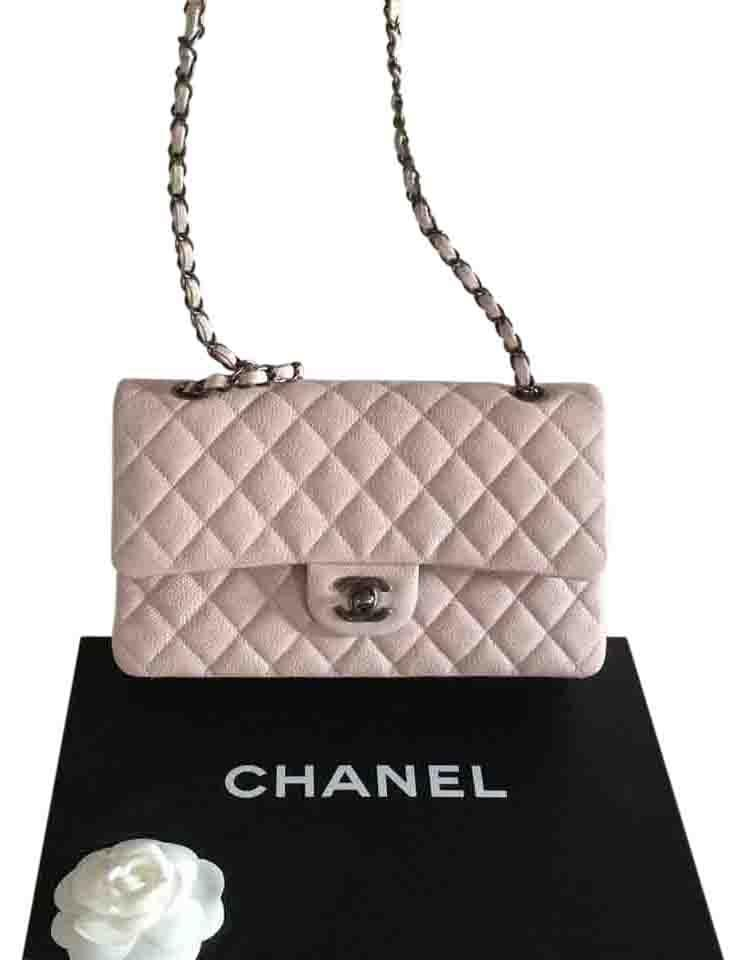 4e3fb4e6811 Chanel Classic / Large/ Baby Pink/Dusty Rose Caviar Cross Body Bag ...