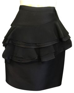 Jason Wu Style Unique Artistic Skirt Black