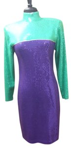St. John Jewel Tones Glityz Sparkly Dress