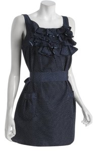 shumaq short dress Navy and White Polka Dot on Tradesy