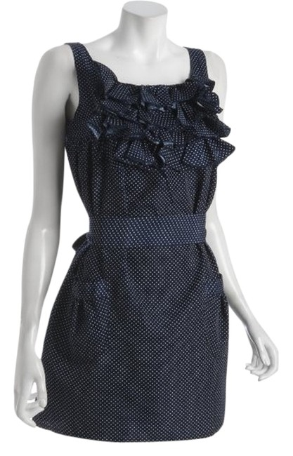 shumaq short dress Navy and White Polka Dot Jessica on Tradesy
