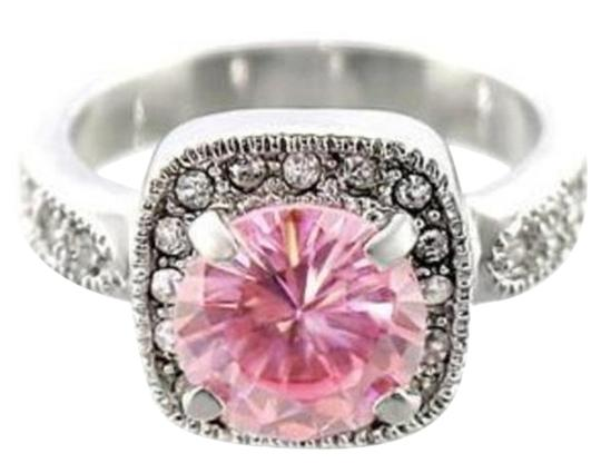 Other New Size 8, 4.7 CT Rhodium Plated Rose & Clear CZ Ring Image 3