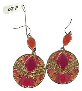 Other Hot pink and orange hanging earrings