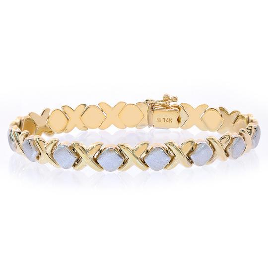 Preload https://img-static.tradesy.com/item/11013139/avital-and-co-jewelry-two-tone-gold-83mm-ladies-14k-hugs-and-kisses-bracelet-0-1-540-540.jpg