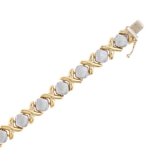 Avital & Co Jewelry 8.3mm Ladies 14k Two Tone Gold Hugs And Kisses Bracelet Image 1
