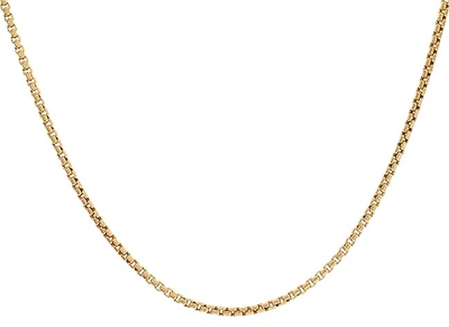 Avital & Co Jewelry Yellow Box 2.0 Mm 14k Gold Link Chain Necklace Avital & Co Jewelry Yellow Box 2.0 Mm 14k Gold Link Chain Necklace Image 1