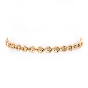 Avital & Co Jewelry 5.1mm Ladies 10k Yellow Gold Heart Link Bracelet