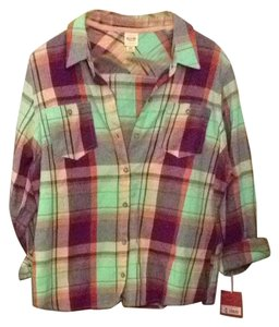 Mossimo Supply Co. Target Flannel Plaid Oversized Button Down Shirt