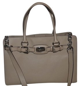 Michael Kors New With Tags Black Leather Tote in dark taupe
