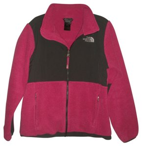 The North Face Full Front Zip * 2 Zippered Hand * Embroidered Logo Accents Upper Left Chest And Upper Right Back * Elastic Sleeve * Magenta Pink & DarK Grey Jacket