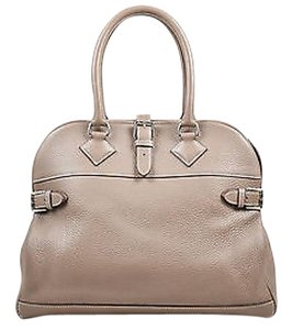 Hermès Taupe Grain Clemence Leather Top Handle Atlas 35 Satchel in Brown