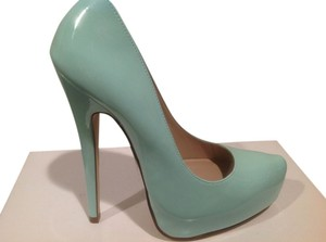 Truth or Dare by Madonna 6 Light Green Patent Platforms