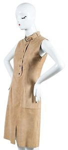 Belstaff Tan Suede Leather Dress