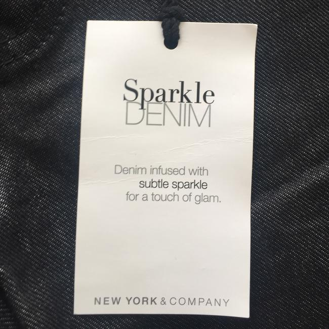 New York & Company Low Rise Studded Size 0 Straight Leg Jeans-Coated Image 5