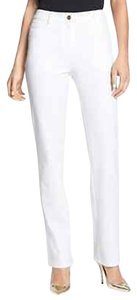 St. John Nwt Yellow Label Marie Stretch Pants White Size 12 Straight Leg Jeans