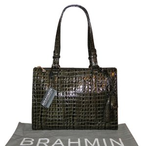 Brahmin La Scala Leather Tote in Caviar